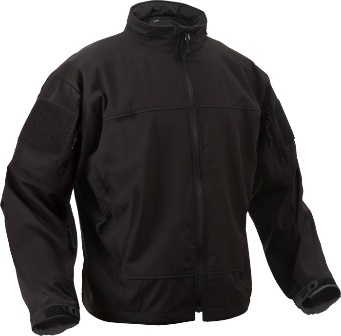 Black Military Soft Shell Covert Light Weight Casual Waterproof ... 76334c954