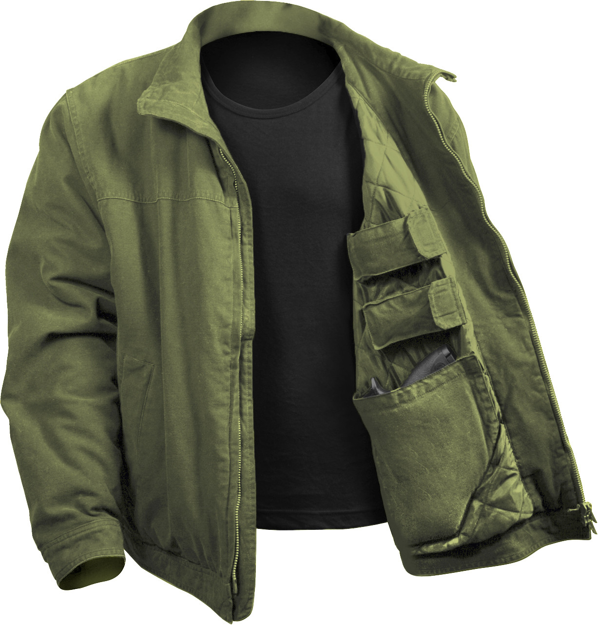 Olive Drab Military Concealed Carry 3 Season Tactical Jacket 80f495f6c73