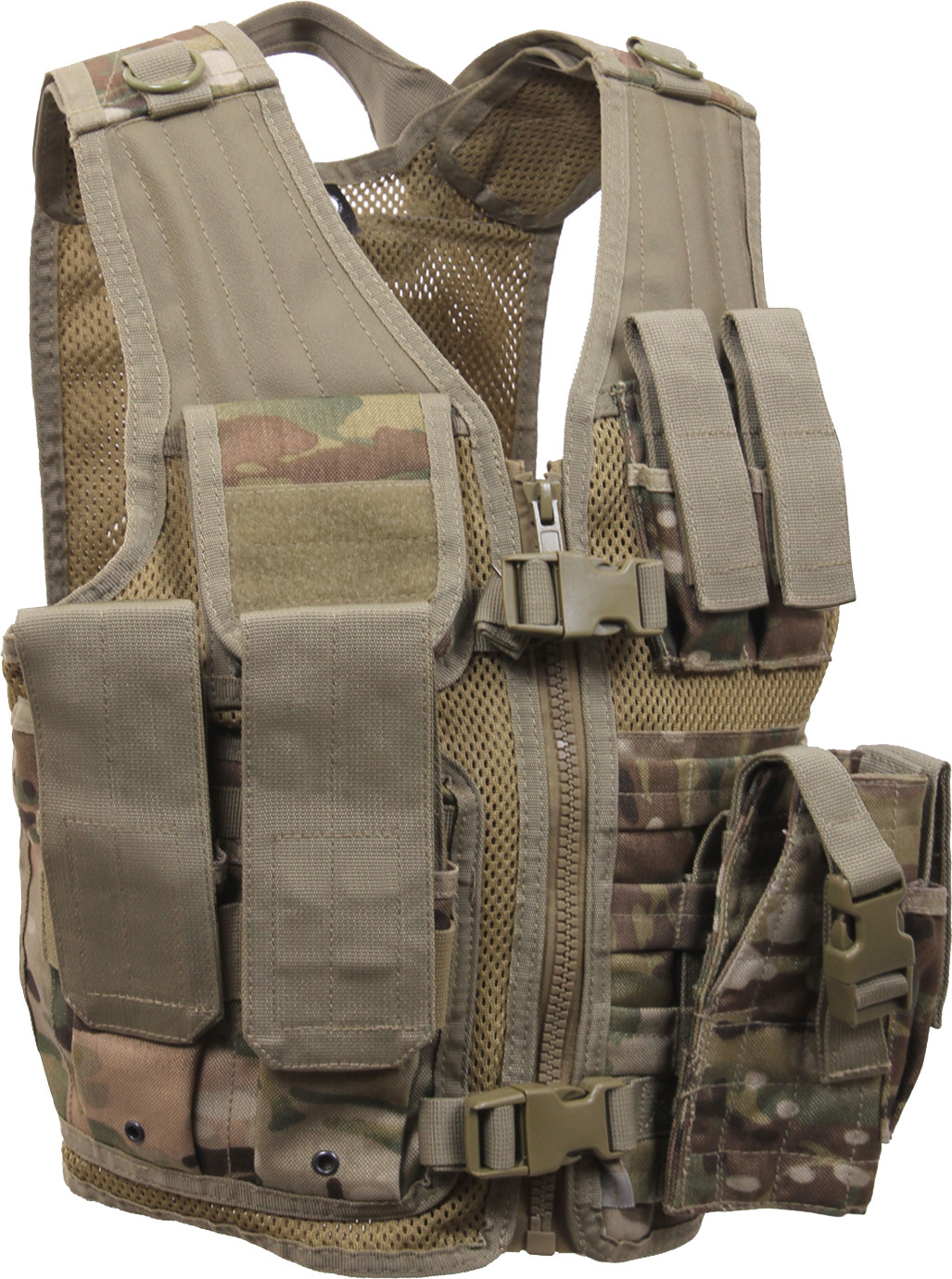 Kids Multi Cam Military Tactical Cross Draw Vest 7ae7c934e07