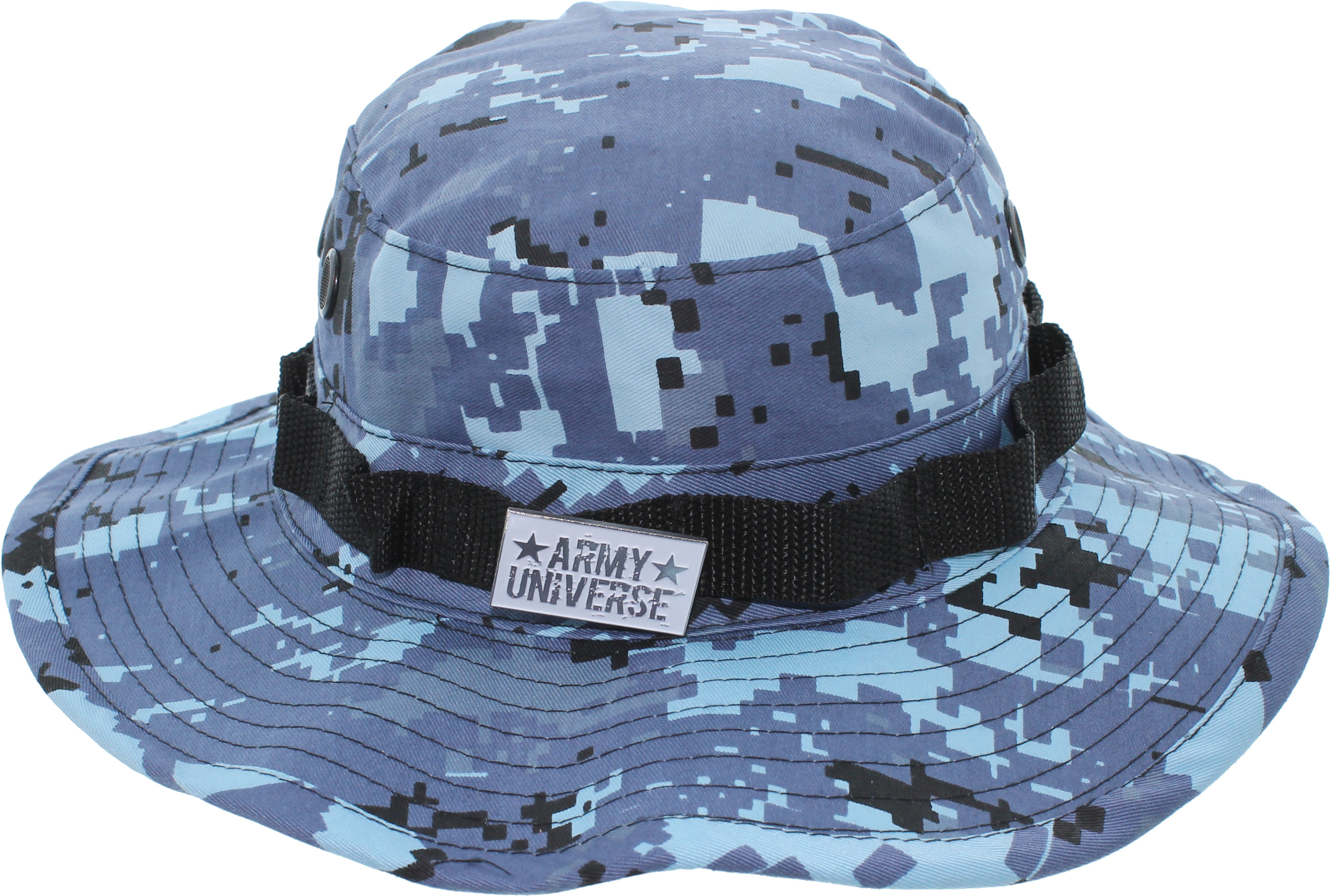 19b0b84081f36 ... Light Blue Digital Camouflage Boonie Hat with ARMY UNIVERSE Pin ...