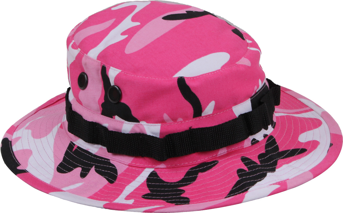 More Views. Pink Camouflage Military Wide Brim Boonie Hat 2362290c54d
