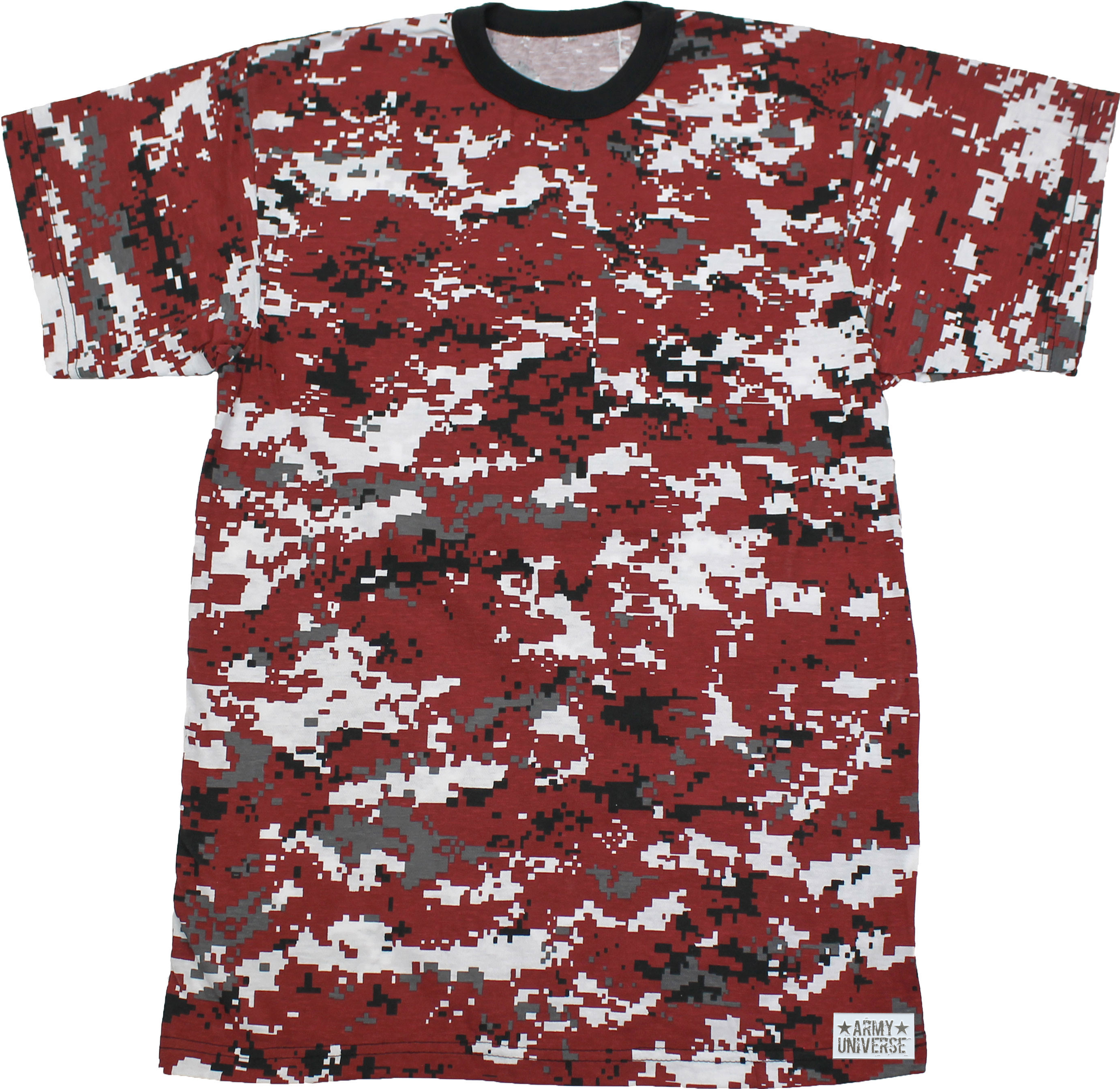 Camouflage Military Crewneck Short Sleeve T Shirt w  ArmyUniverse® Pin f1ee6d4a413