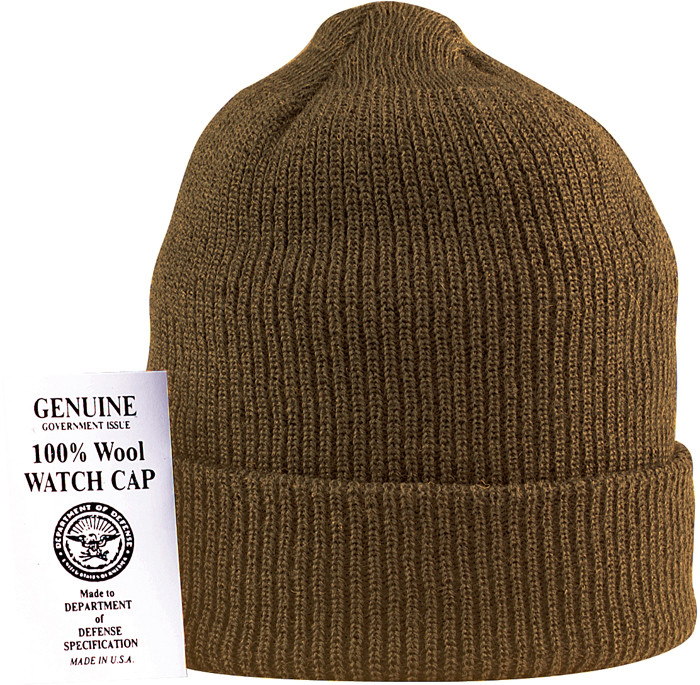Coyote Brown Military Winter Beanie Hat Wool Watch Cap USA Made 20f2c10131b