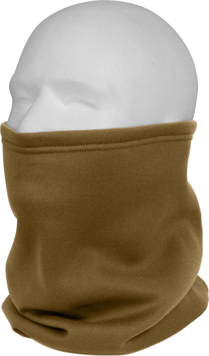 Coyote Brown Military ECWCS Cold Weather Fleece Lined Neck Gaiter 5e328e21a25