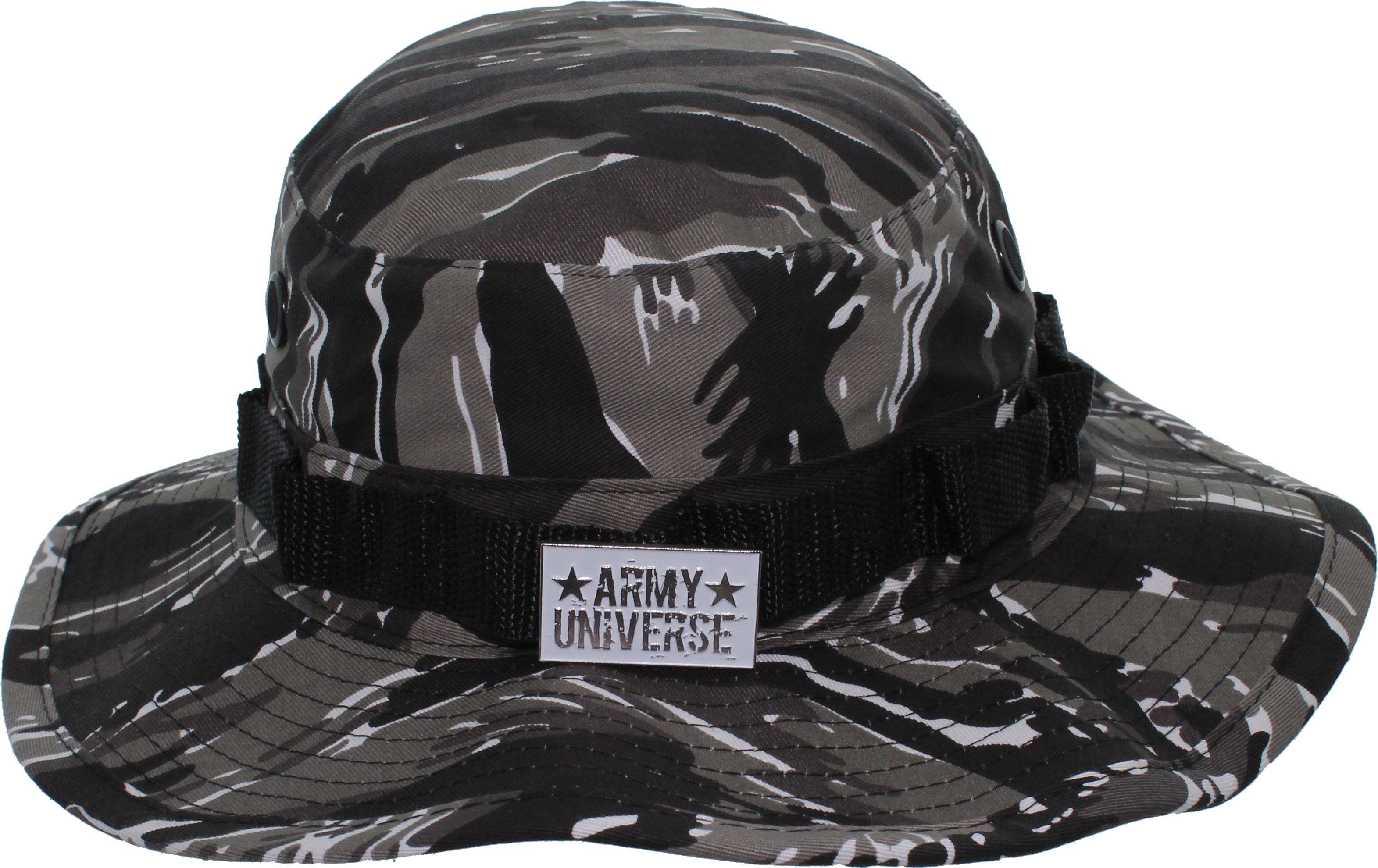 ... Urban Tiger Stripe Camouflage Boonie Hat with ARMY UNIVERSE Pin ... 03f499badd2