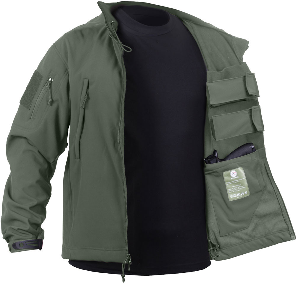 More Views. Olive Drab Ambidextrous Concealed Carry Soft Shell Tactical  Jacket 2123d554cf7