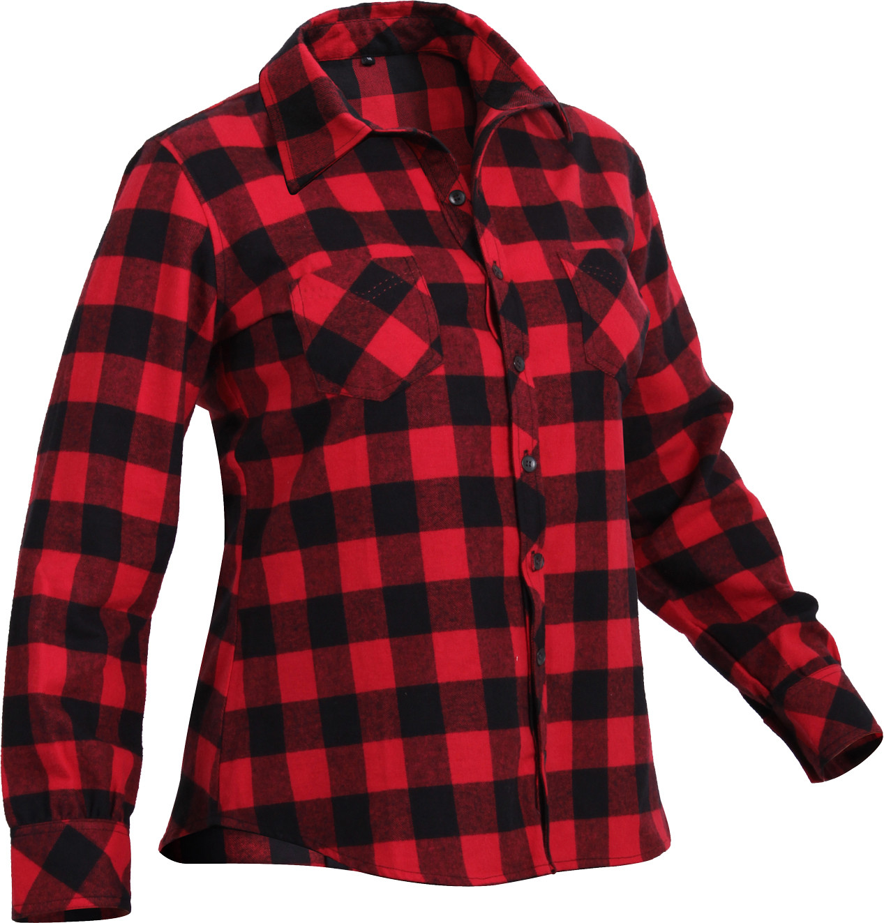 More Views. Women s Red Plaid Tapered Cut Button Down Flannel Shirt b5522fd5e7