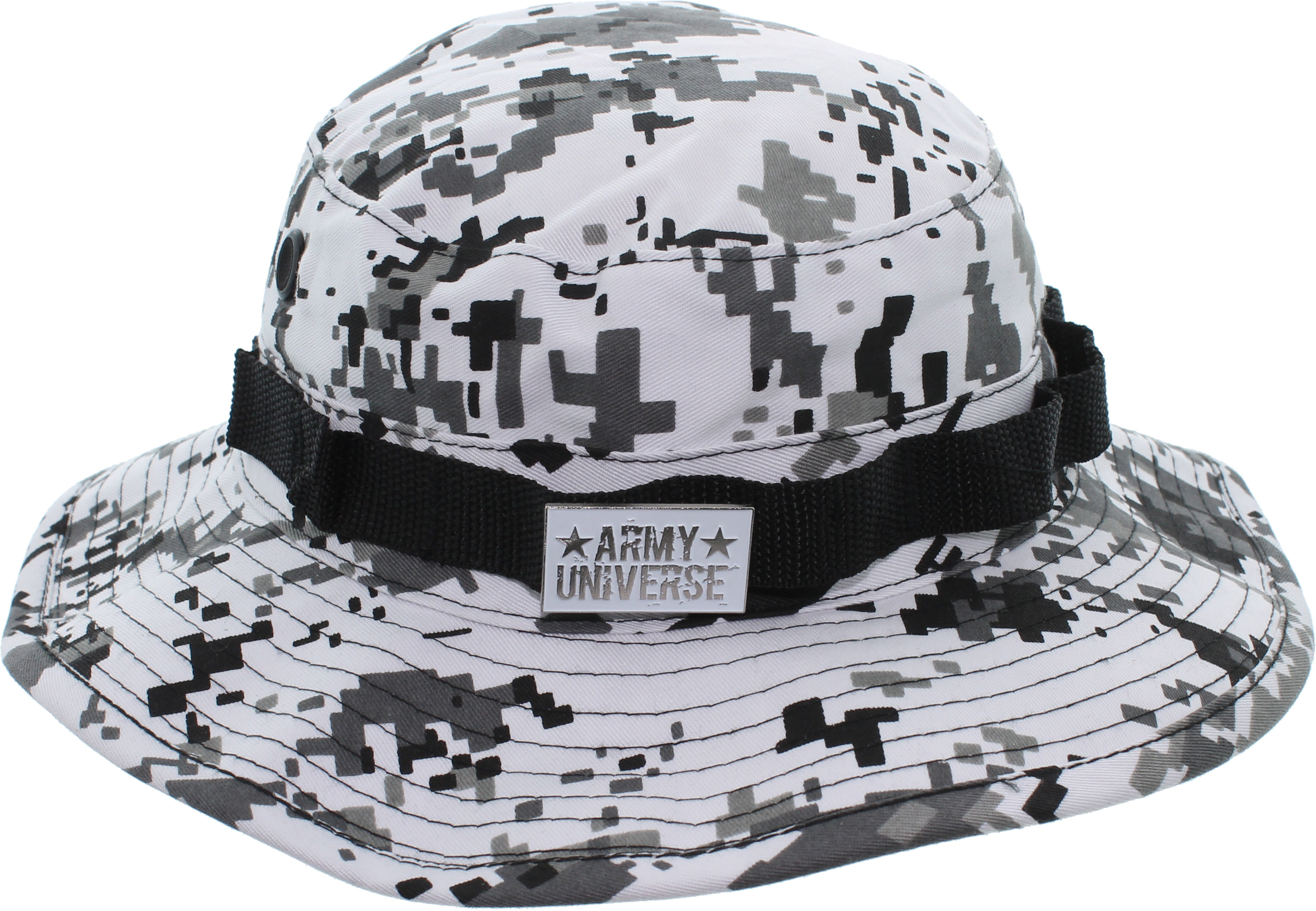 Camouflage Hunting Fishing Wide Brim Boonie Bucket Hat with ARMY ... d34b049e0ff