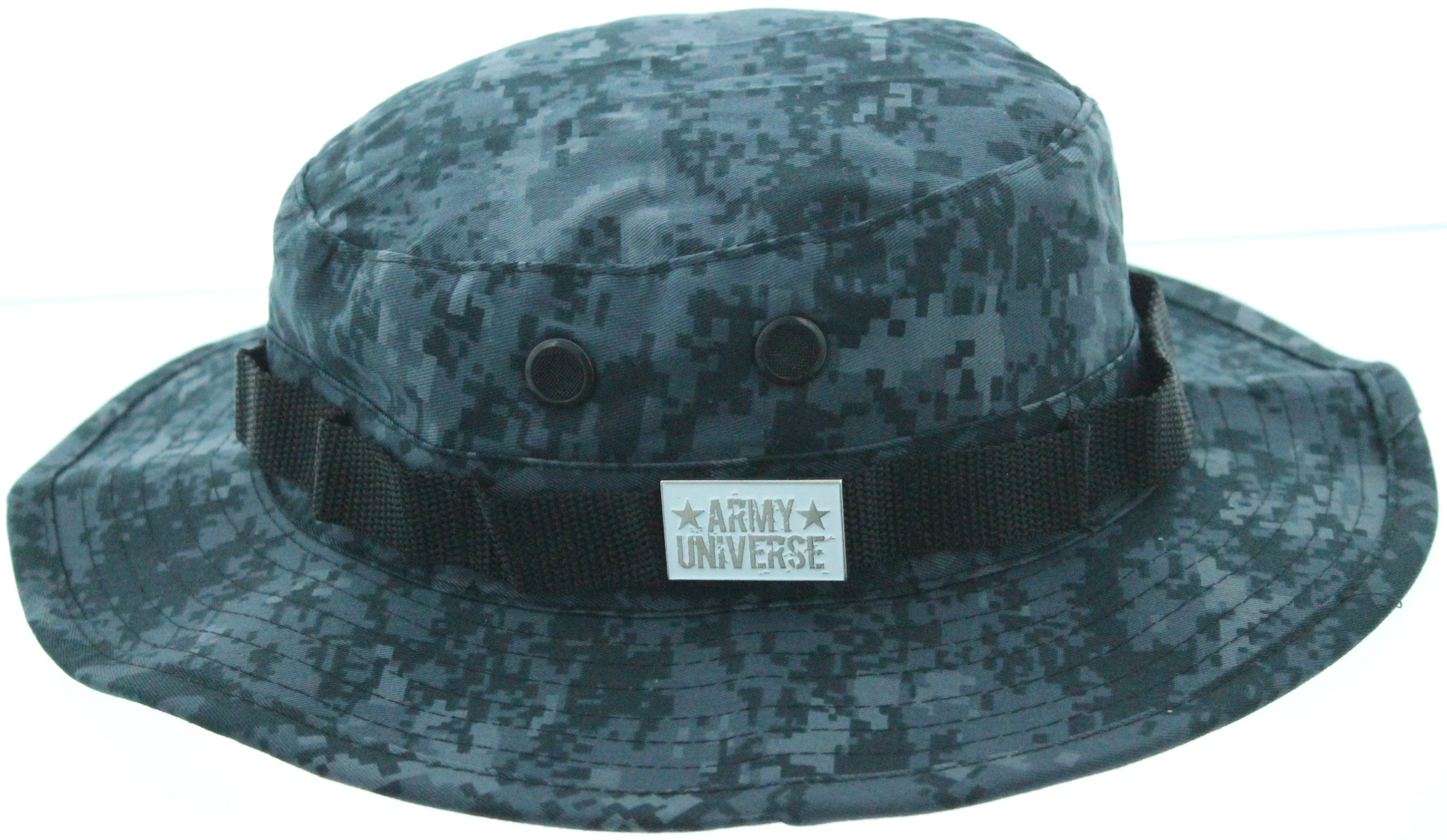7b783192129 ... Midnight Digital Camouflage Boonie Hat with ARMY UNIVERSE Pin ...