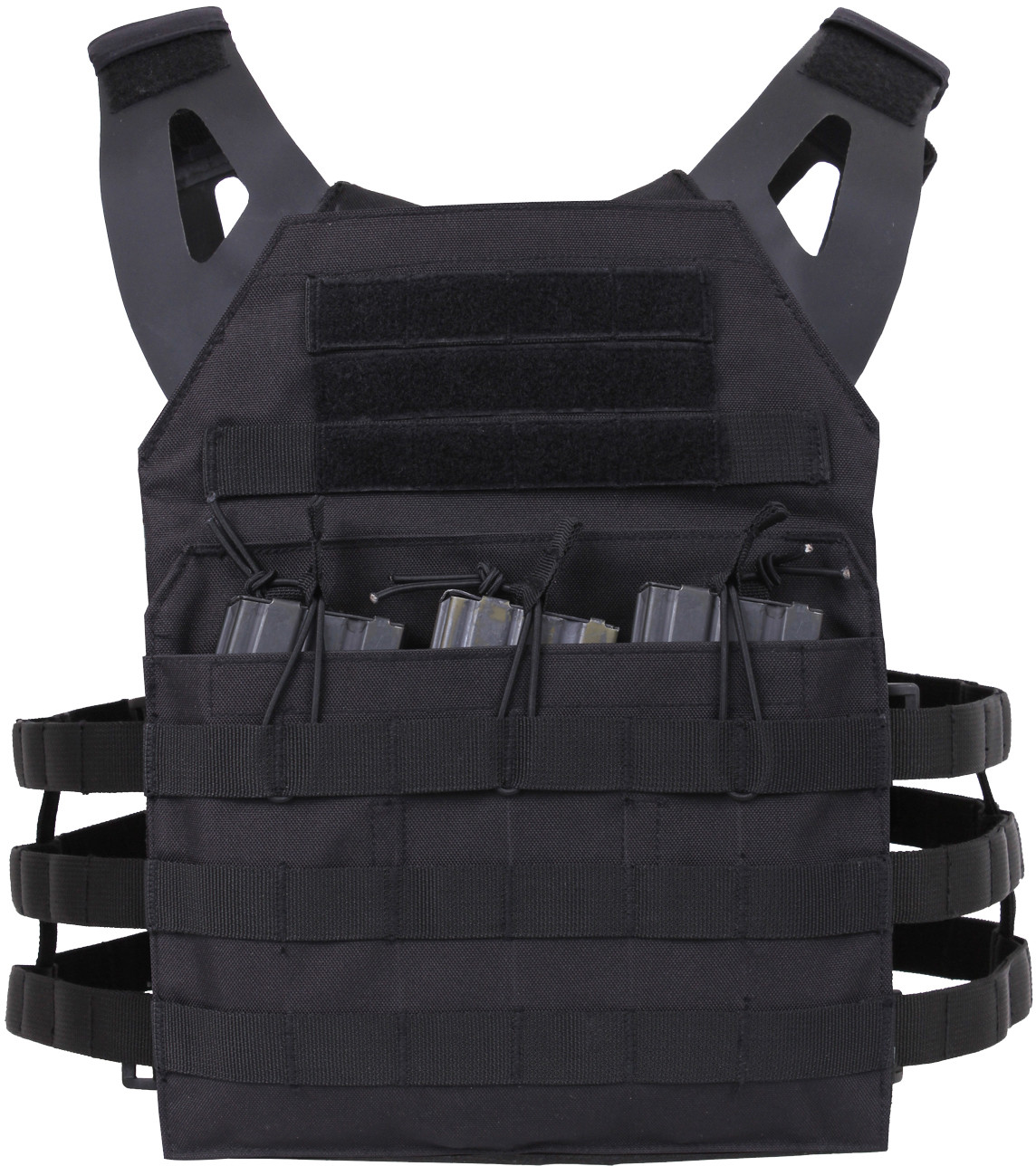 More Views. Black Lightweight MOLLE Compatible 3 Magazine Pouch Plate  Carrier ... 349f21eb8a4