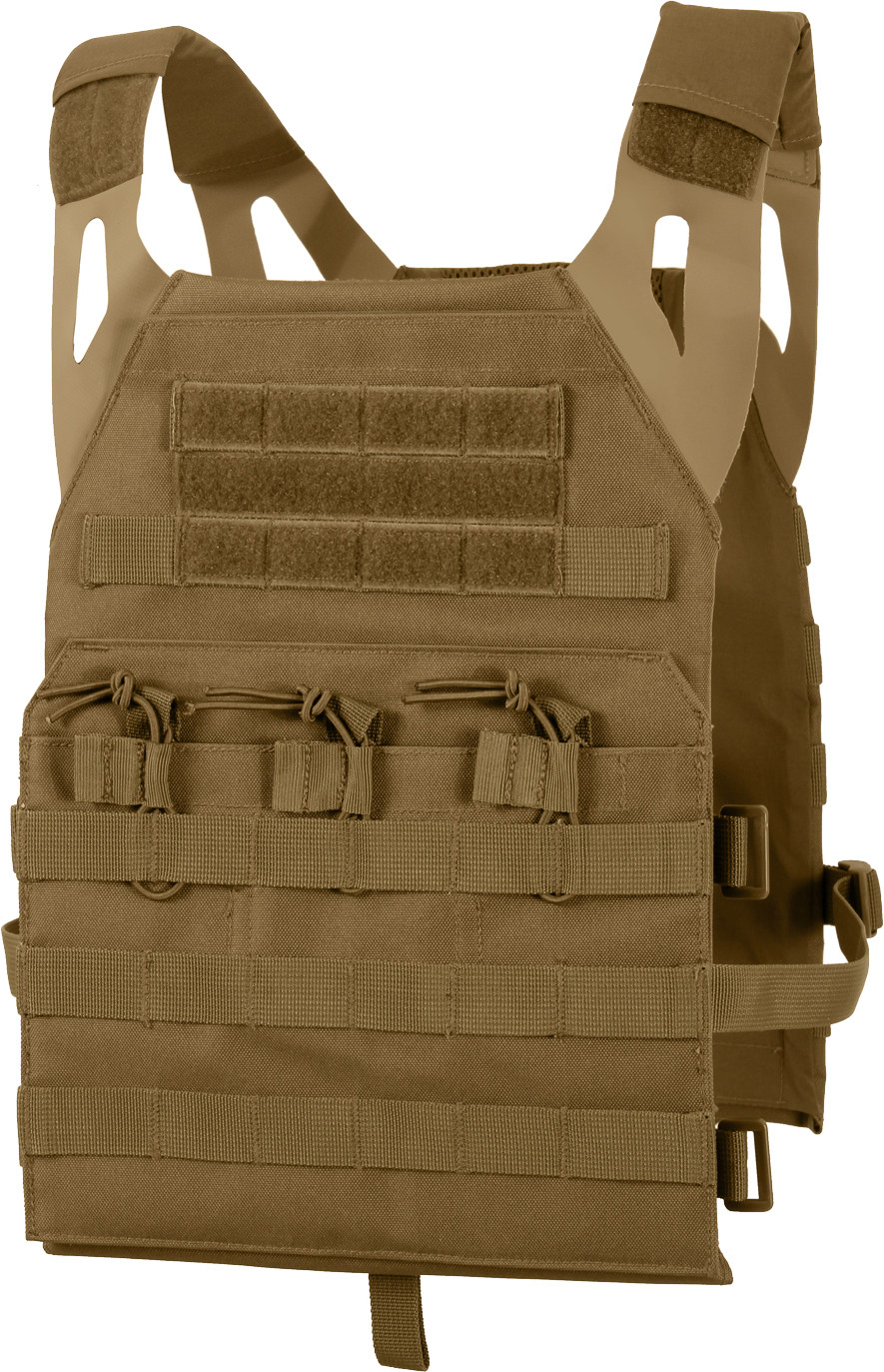 Coyote Brown Lightweight MOLLE Compatible 3 Magazine Pouch Plate Carrier  Vest 68e42023ab5