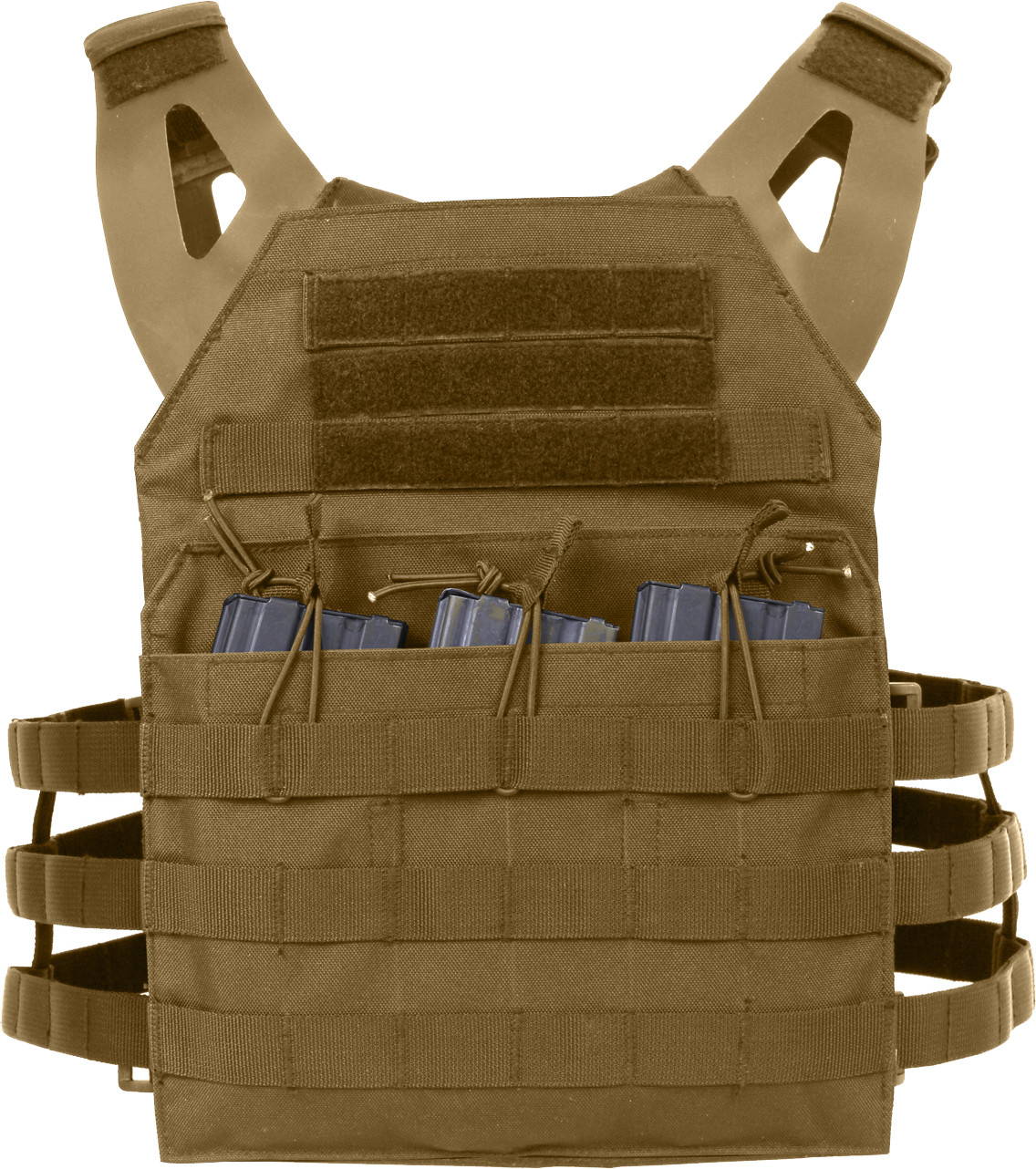 Coyote Brown Lightweight MOLLE Compatible 3 Magazine Pouch ... 4d80059d093