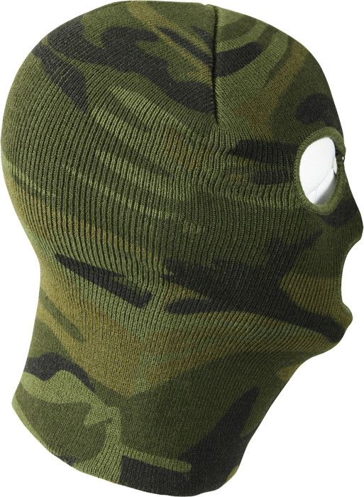 Woodland Camouflage Military Deluxe Three Hole Acrylic Face Mask 69fd5020270