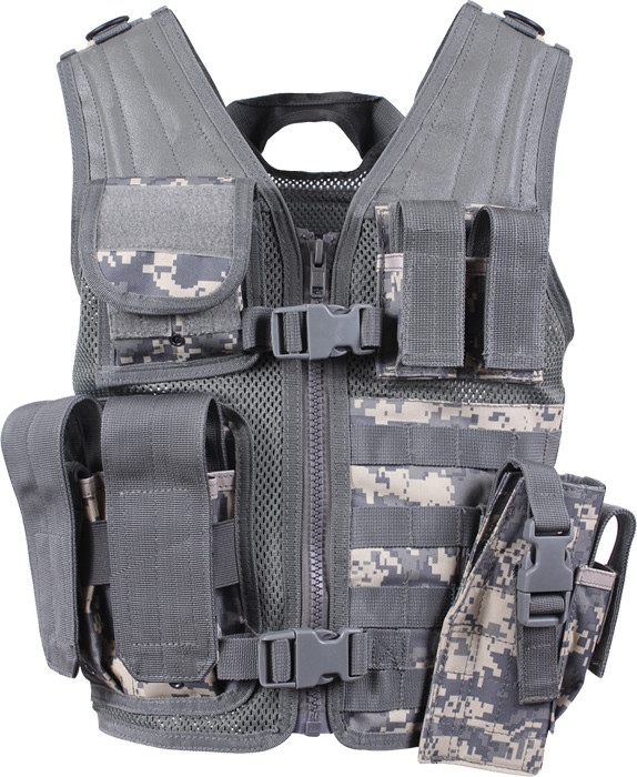 ACU Digital Camouflage Kids MOLLE Polyester Cross Draw Outdoors ... d84a6c5e6c9