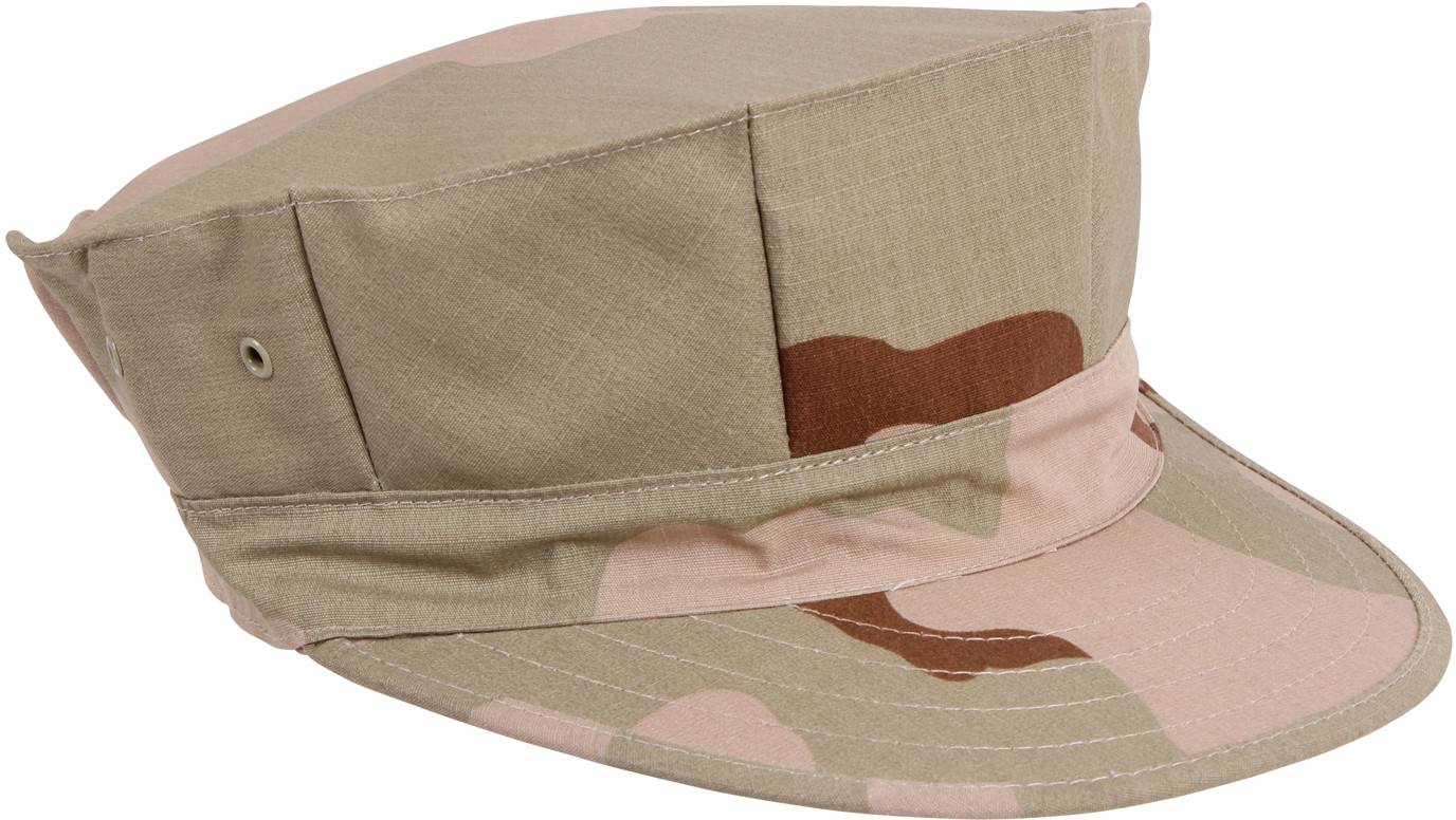 fecea274675 Tri-Color Desert Camouflage Military Rip Stop Marine Corps 8 Point Utility  Cap
