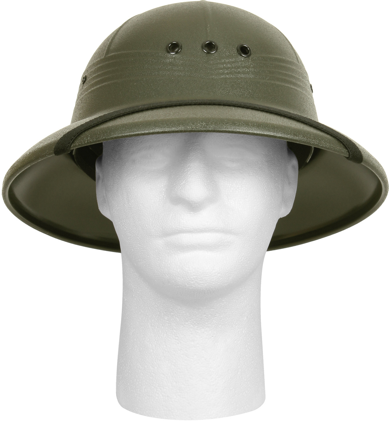 a5fc0a427eb4a More Views. Olive Drab Vietnam Style Light-Weight Safari Pith Helmet ...