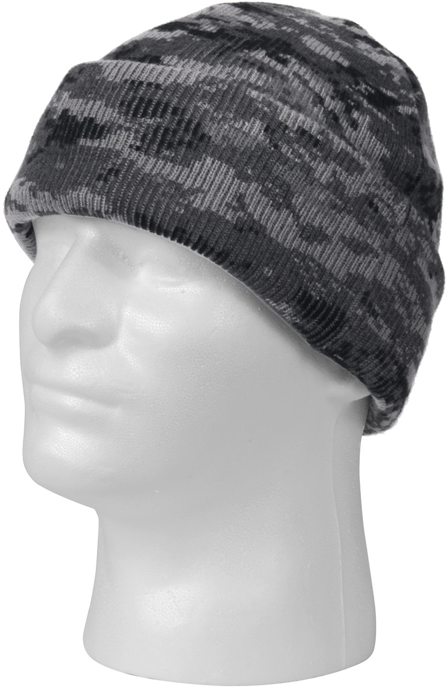 Subdued Urban Digital Camouflage Deluxe Knitted Winter Hat Acrylic ... 47ae884d1
