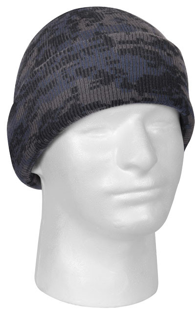 Midnight Digital Camouflage Deluxe Knitted Winter Hat Acrylic Watch ... 722abc8605a