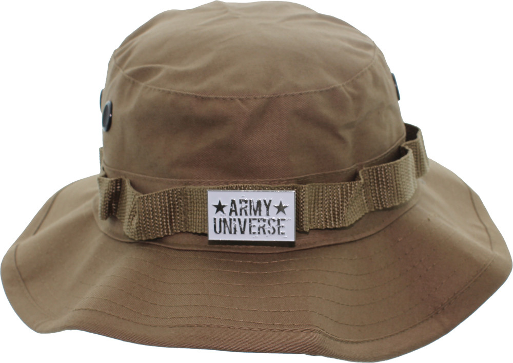 Camouflage Hunting Fishing Wide Brim Boonie Bucket Hat with ARMY ... 76f6094cb87