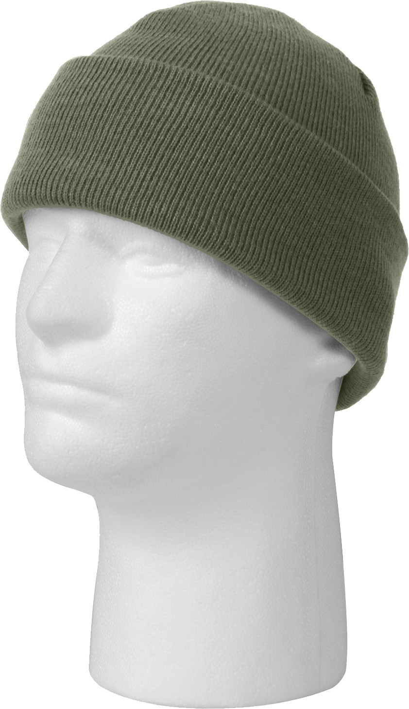 Foliage Green Military Deluxe Winter Beanie Hat Acrylic Watch Cap 08704a745