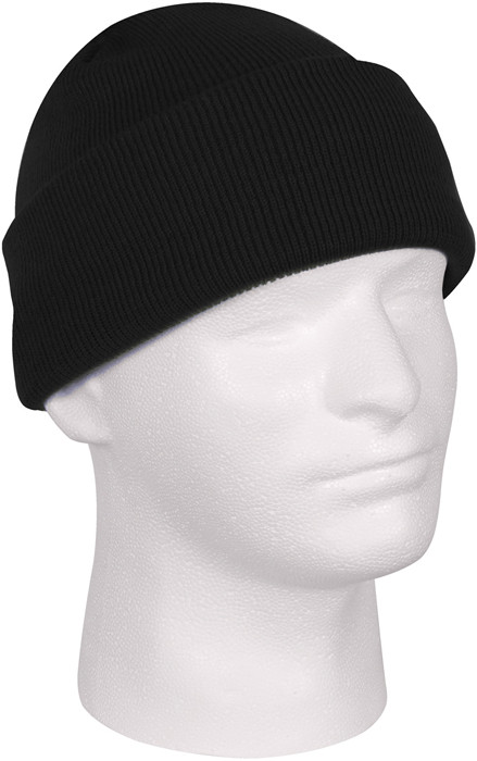 Black Military Deluxe Winter Beanie Hat Acrylic Watch Cap de2ddc87ed0