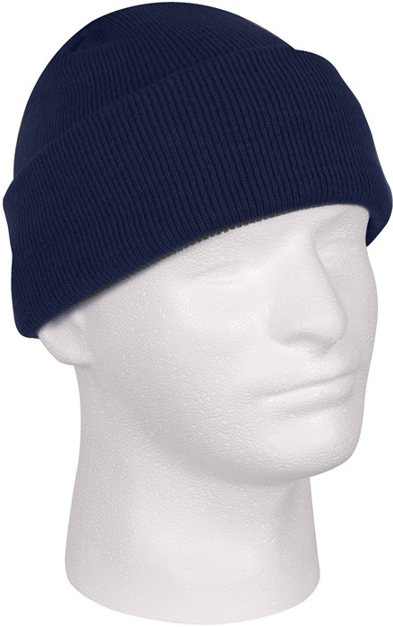 Navy Blue Military Deluxe Winter Beanie Hat Acrylic Watch Cap 71b57f81f