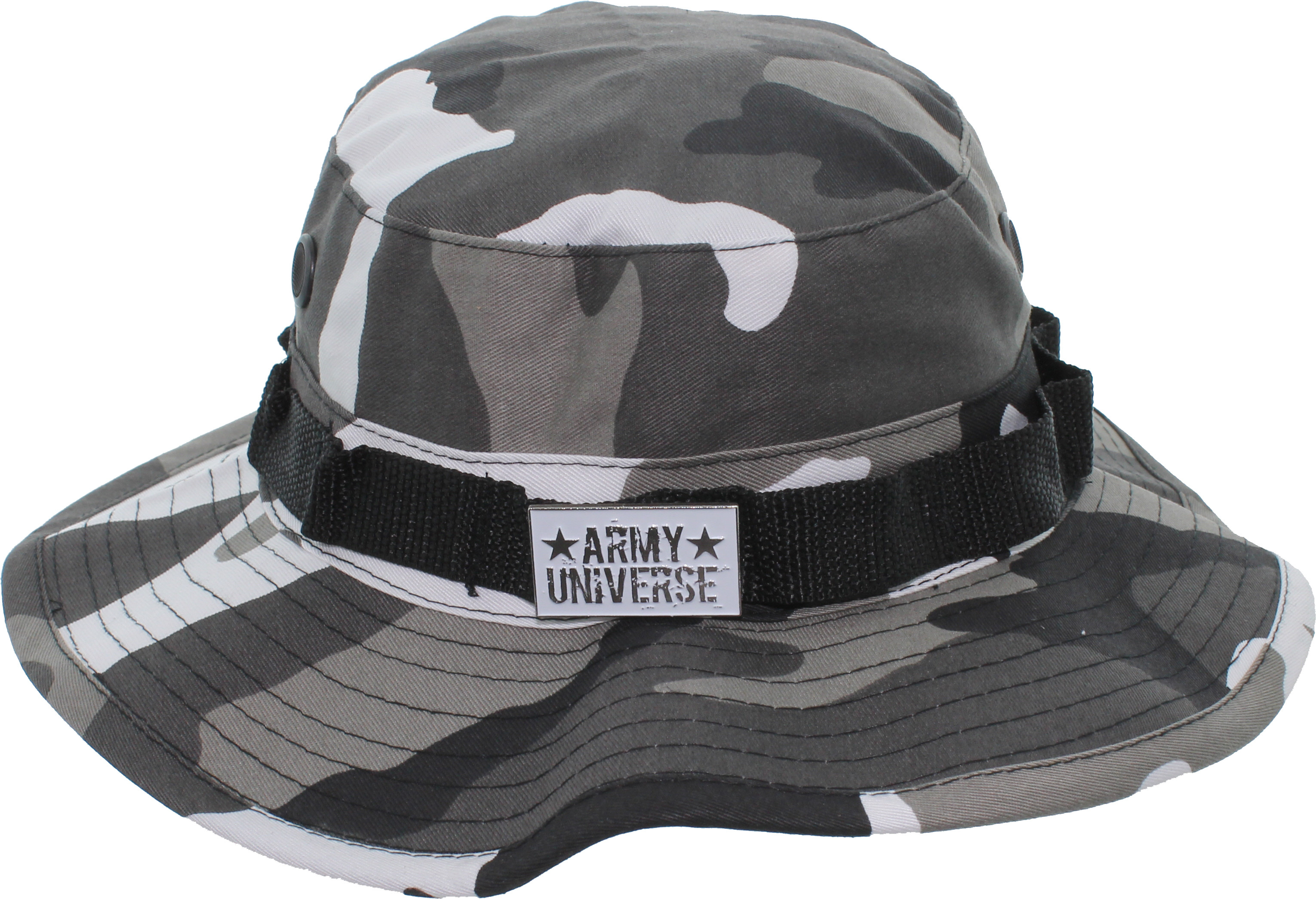 Camouflage Hunting Fishing Wide Brim Boonie Bucket Hat with ARMY ... 2c34f7082b8