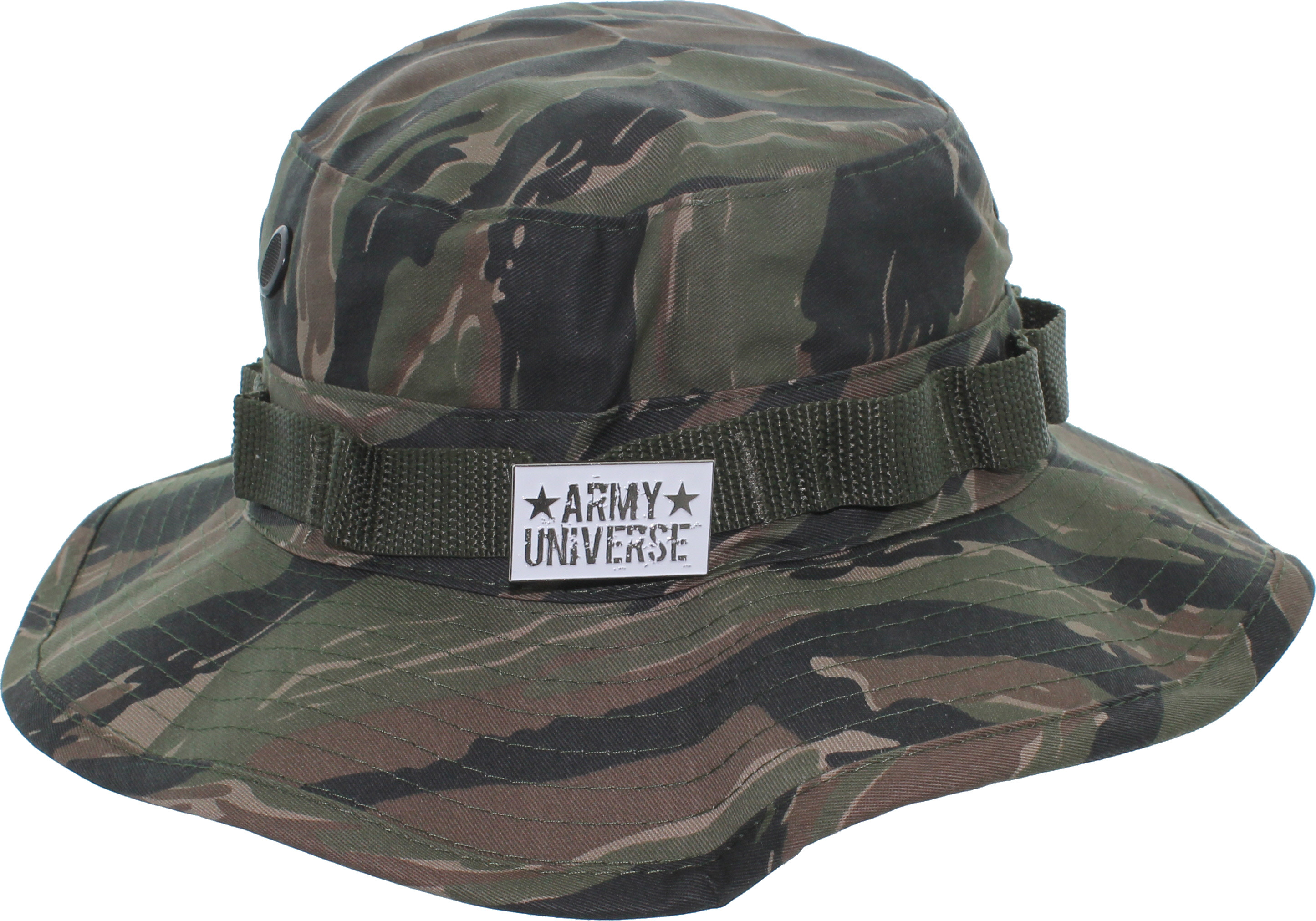 Camouflage Hunting Fishing Wide Brim Boonie Bucket Hat with ARMY ... 058ba6afbcd