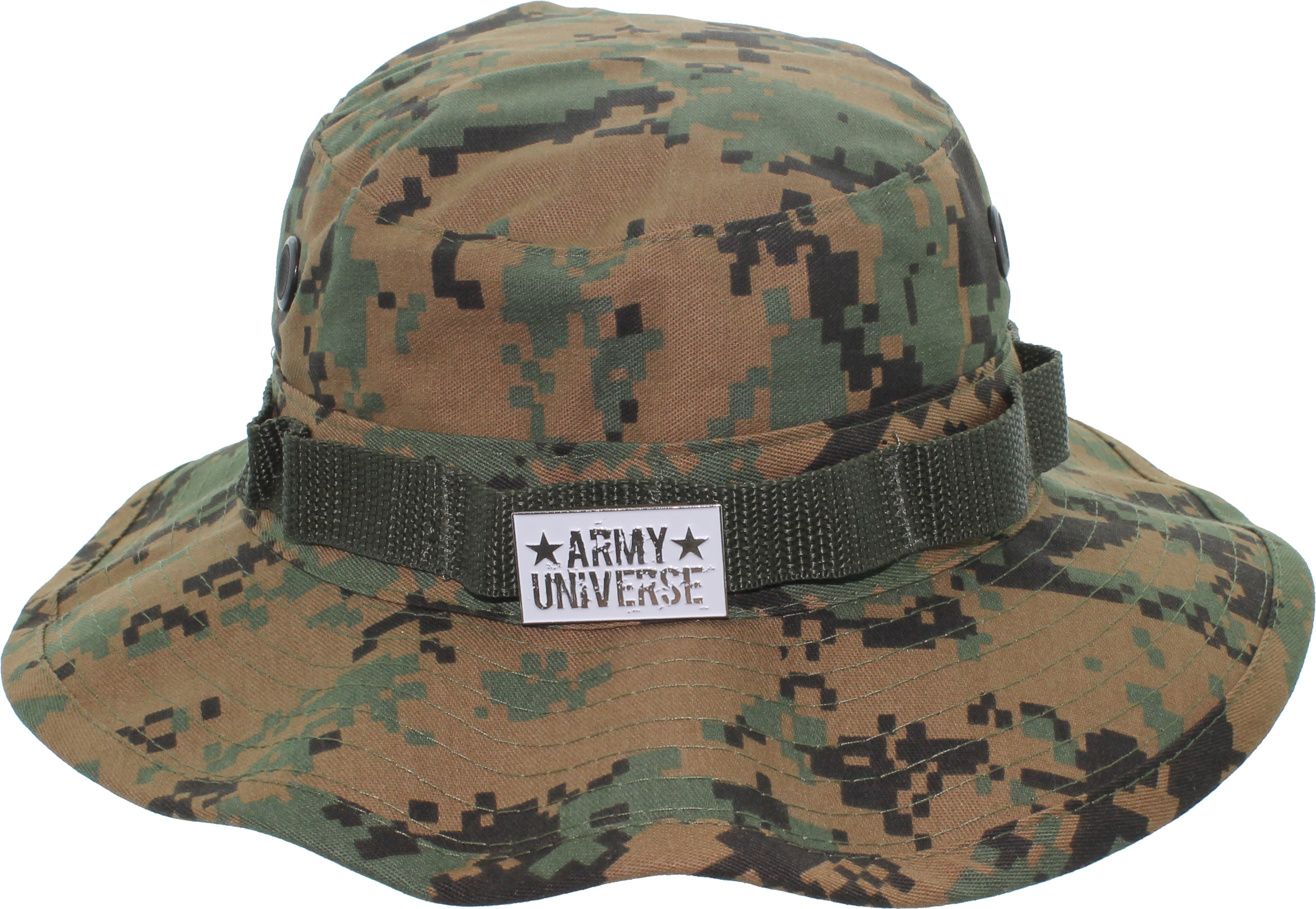 ... Woodland Digital Camouflage Boonie Hat with ARMY UNIVERSE Pin ... 665d6d03ac6