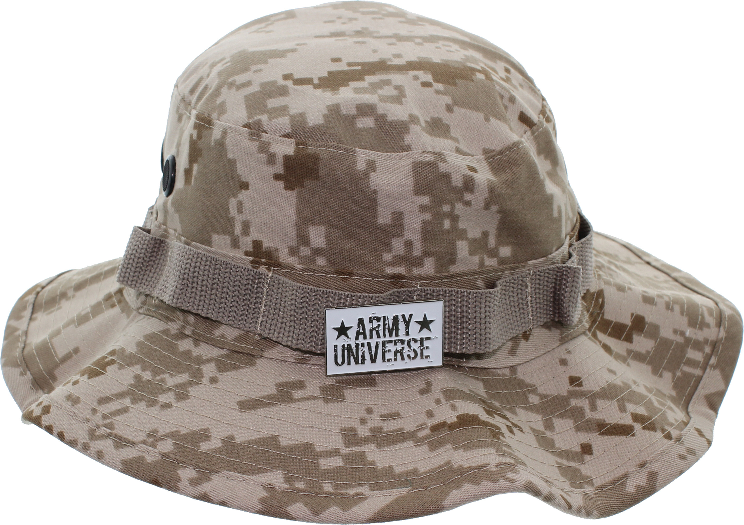 c2655fdfb867b Camouflage Hunting Fishing Wide Brim Boonie Bucket Hat with ARMY ...
