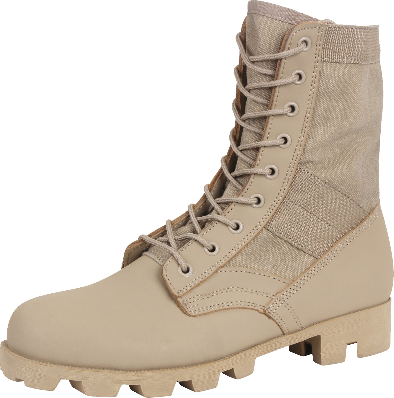 Desert Sand Leather Panama Sole Military Combat Jungle Boots 78235477bf7