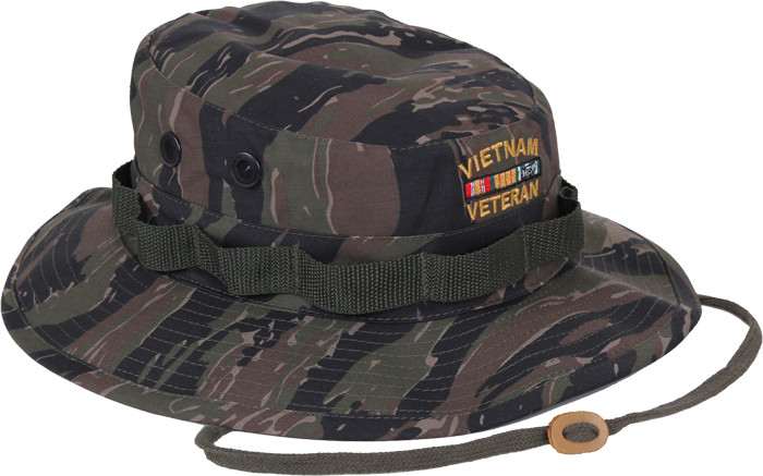 More Views. Tiger Stripe Camouflage Vietnam Veteran Military Wide Brim  Boonie Hat c3bca2d9c44
