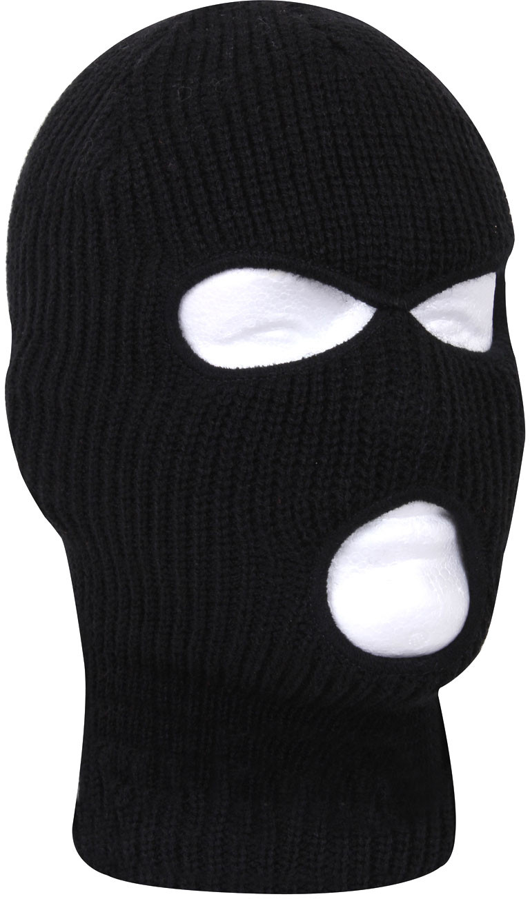 More Views. Black Fine Knit Three Hole Facemask Balaclava 18905b7b350