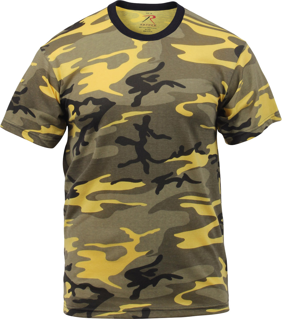 Stinger Yellow Camouflage Military Short Sleeve T-Shirt 02d6104c841