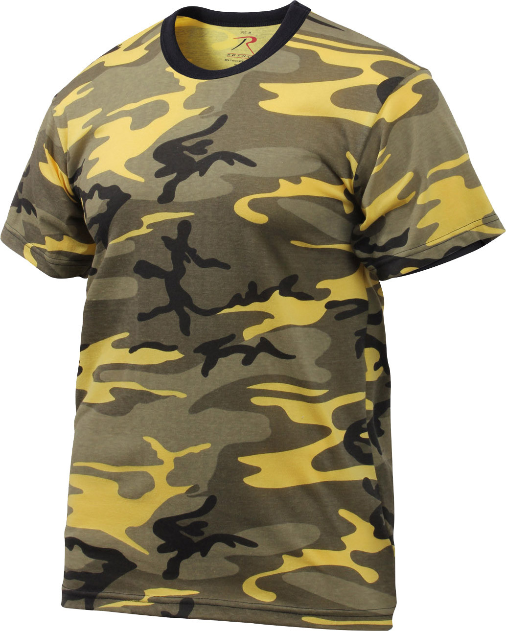 stinger yellow camouflage military short sleeve t
