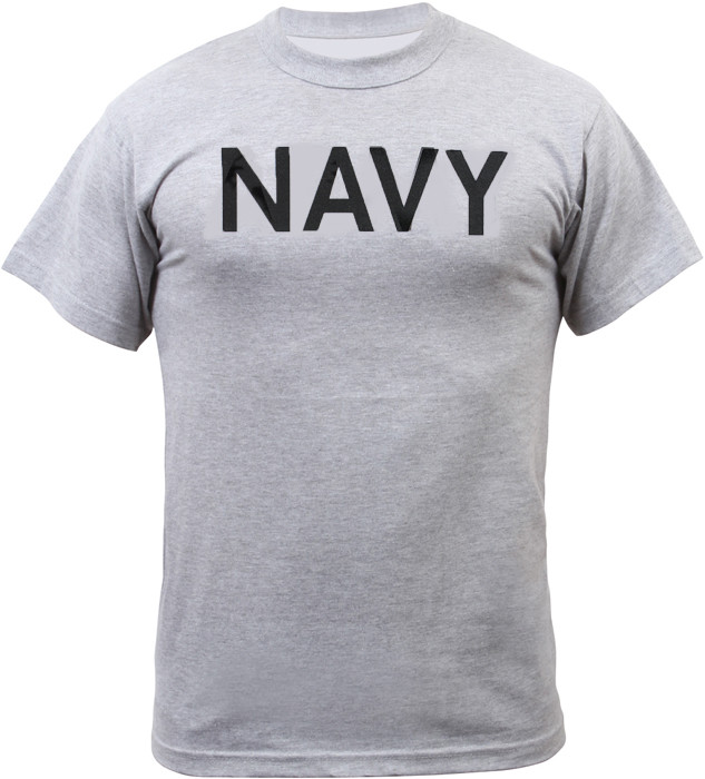 Grey US Navy Physical Training Short Sleeve T-Shirt f25ec20b96a