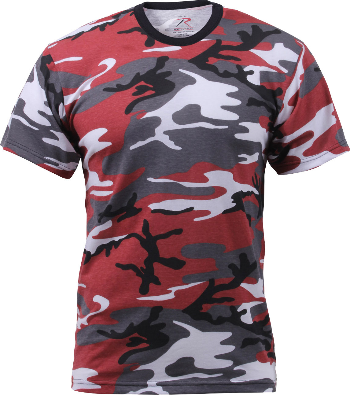 Red Camouflage Military Short Sleeve T-Shirt a23b863d5