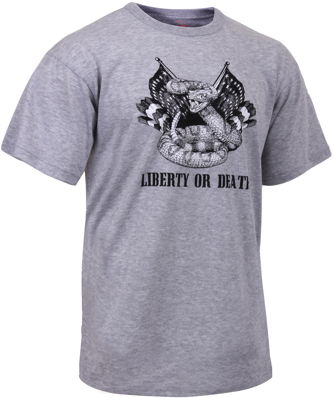 Grey Liberty or Death Revolutionary War T-Shirt 582d0244484