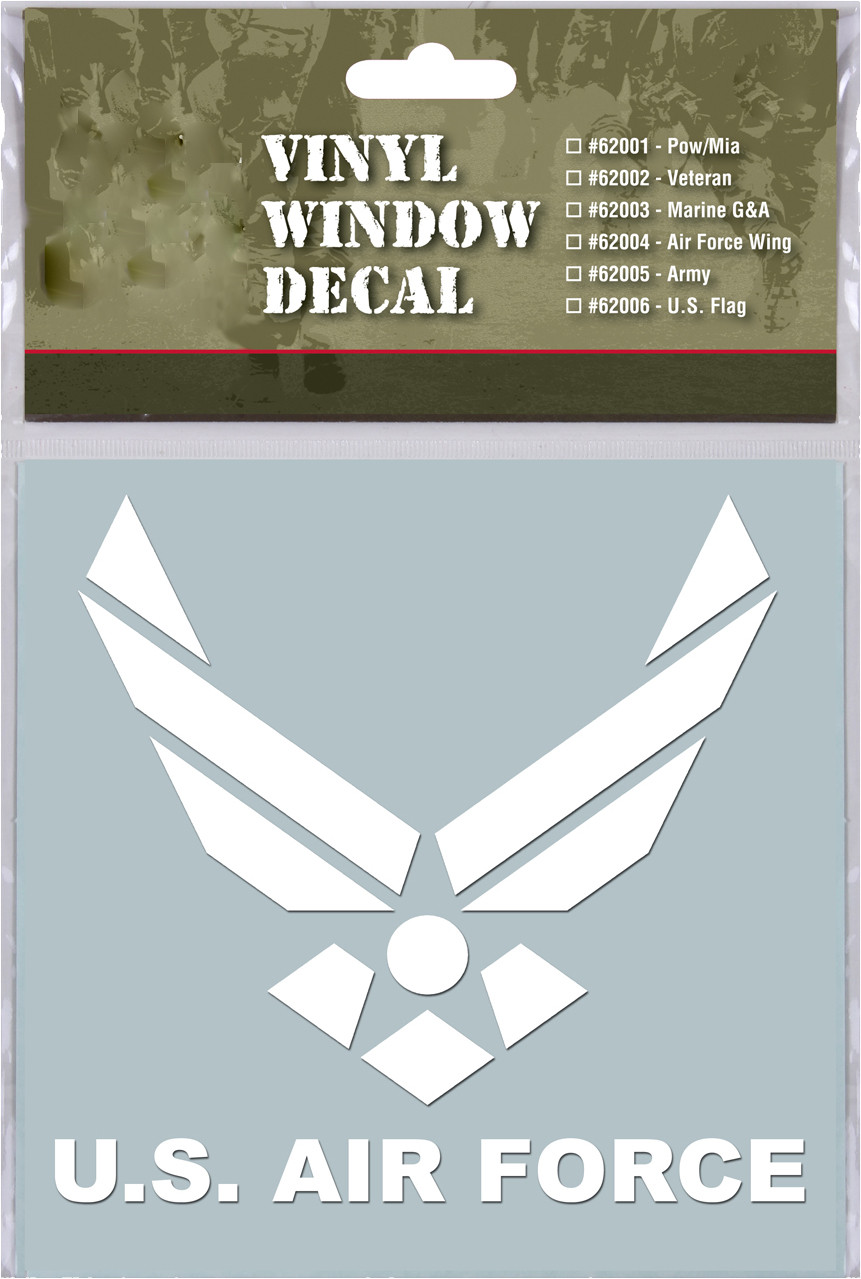 White Military Vinyl Us Air Force Clear Window Decal
