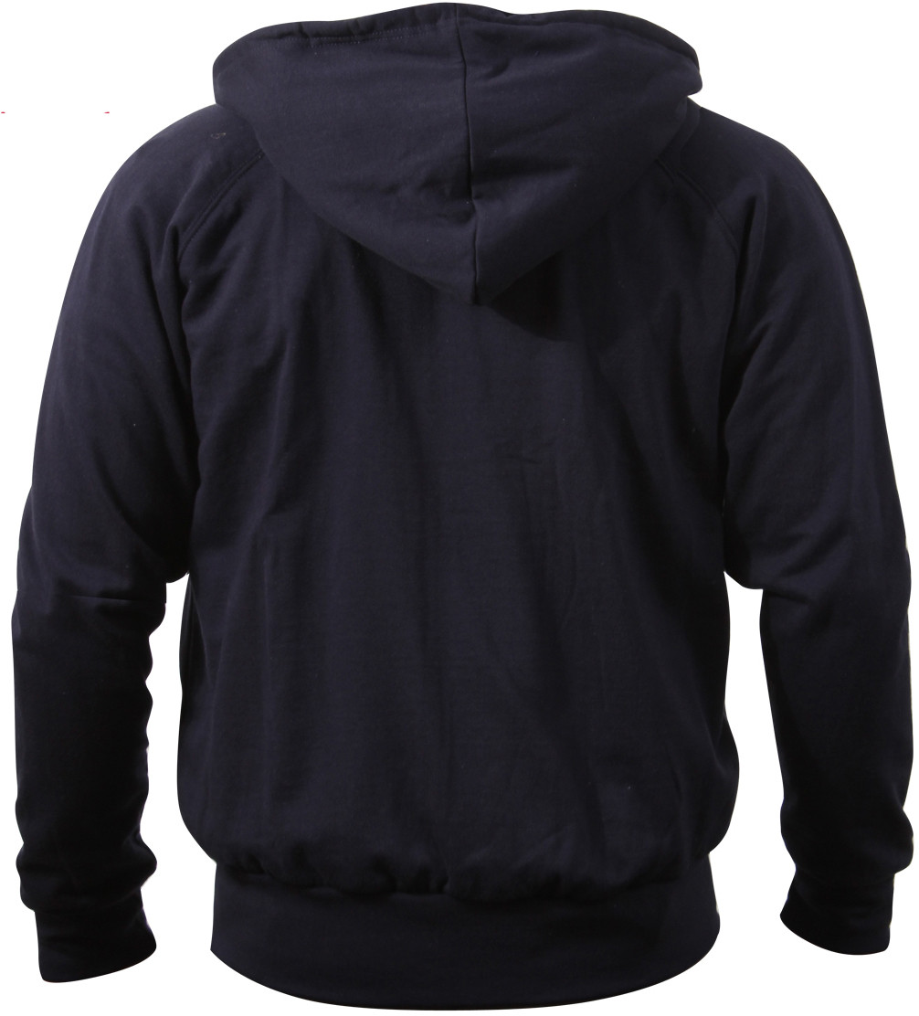 Navy Blue Thermal Lined Zip Up Hoodie Sweatshirt 627e2ebf0