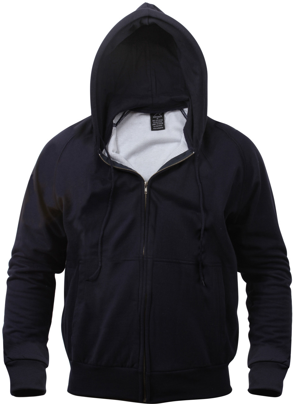 More Views. Navy Blue Thermal Lined Zip Up Hoodie Sweatshirt ... f01aaa346d2