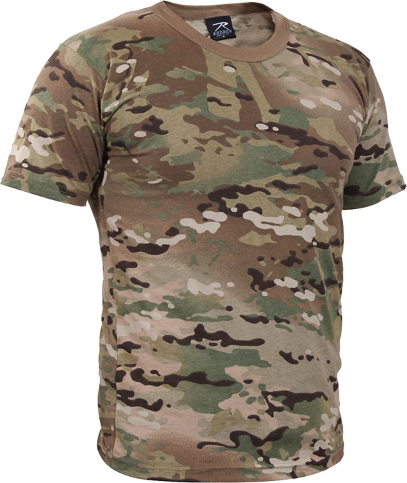 Multi Cam Military 100% Cotton Military Short Sleeve T-Shirt ab90baf719f