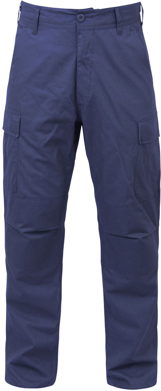 Navy Blue Military BDU Cargo Polyester Cotton Fatigue Pants 885c7a84288