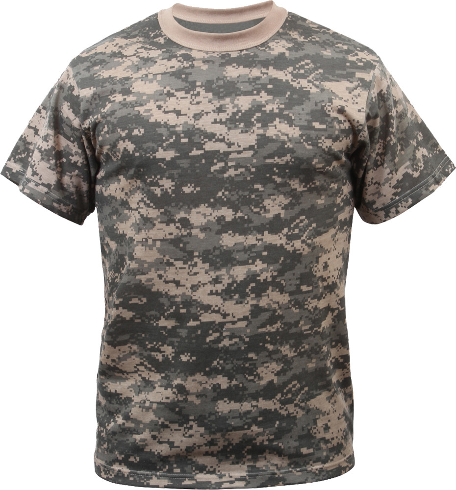 ACU Digital Camouflage Military Short Sleeve T-Shirt a4165228c