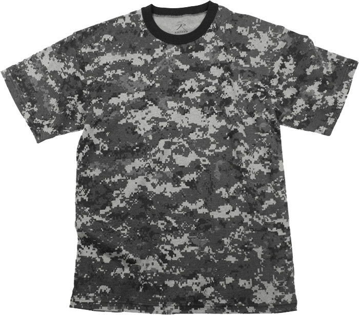 Subdued Urban Digital Camouflage Kids Military Tactical T-Shirt bf579b4f3e3