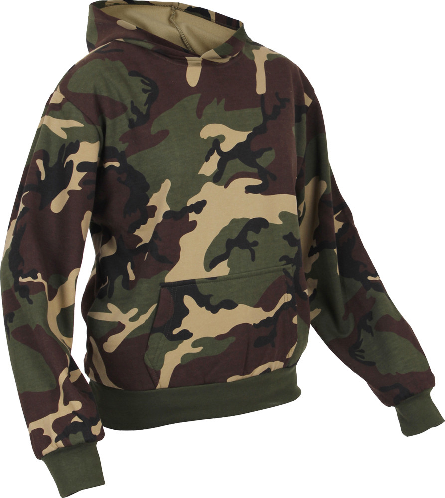 Woodland Camouflage Hooded Sweatshirt (Kids) 4100e7a9dbd