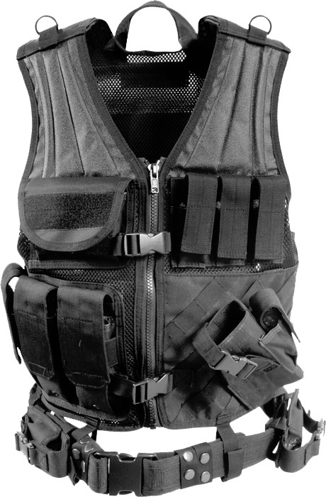 More Views. Black Military Tactical Cross Draw Vest ... 8caac85974b