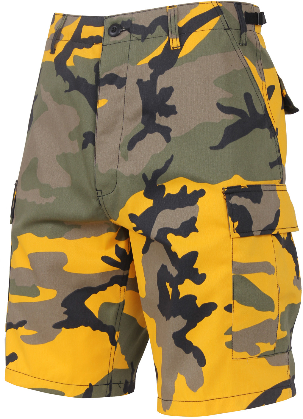 Yellow Camouflage Cargo Military BDU Shorts 2aa25098784