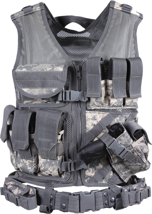 More Views. ACU Digital Camouflage Military Tactical Cross Draw Vest ... 55fe85d4250