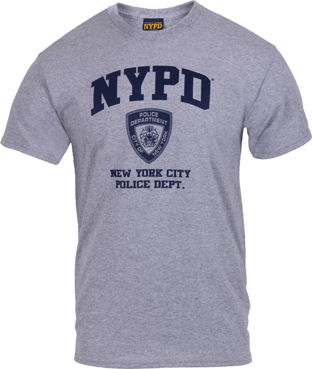 217dd6e17 Grey Official NYPD Physical Training Workout T-Shirt
